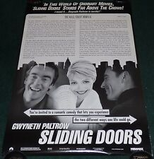 SLIDING DOORS 1998 ORIG ROLLED DS REVIEW 1 SHEET MOVIE POSTER GWYNETH PALTROW