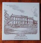 THE ELMS, EDWIN J. BERWIND 1901, NEW PORT, RI Souvenir Ceramic Tile Trivet 6x6