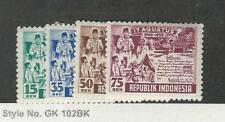 Indonesia, Postage Stamp, #406-409 Mint Hinged, 1955