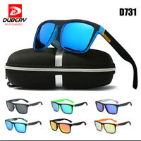 DUBERY Polarized Men Women Sunglasses Square Cycling Sport Driving Sun Glasses J