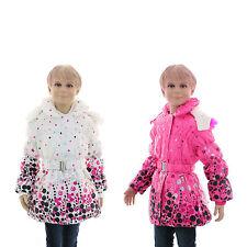 Markenlose Mädchen-Winterjacken mit Kapuze aus Polyester