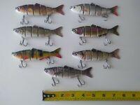 Multi Jointed Fishing Lures 7-pack lot brand new lifelike swimbait crankbait