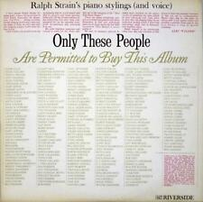 "Ralph Strain~""Only These People"" Mint Riverside Records RLP 847 LP Mono PROMO"