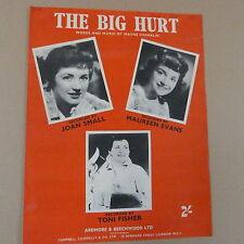 songsheet THE BIG HURT Joan Small , Toni Fisher, M. Evans 1959