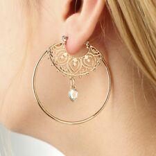 Geometric Circle Hoop Earrings Big Round Dangle Studs Earrings Vintage Jewelry