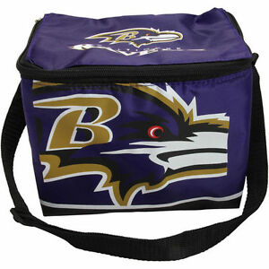 Baltimore Ravens Insulated soft side Lunch Bag Cooler New - BIg Logo - Purple