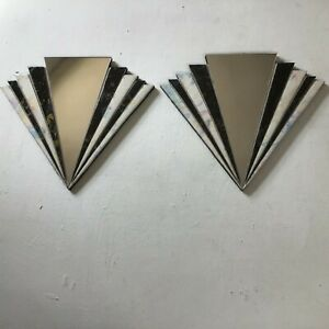 Art Deco mirrors pair fan shape Handcrafted Decorative design home decoration