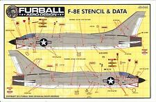 Furball Decals 1/48 VOUGHT F-8E CRUSADER STENCILS & DATA