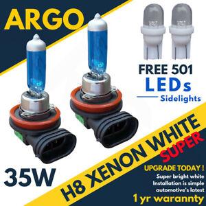 H8 708 Headlight Sidelight Xenon Super White 35w Front Fog Light Bulbs 501 Led