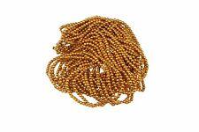 Oro, brillante redonda con cuentas de Costura Bordado Rocaille joyas HAZLO TÚ MISMA Decoración 3 mm