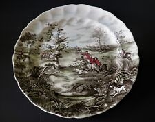 """Johnson Bros Tally Ho / View Halloo 14"""" Round Platter / Charger - 2 Available"""