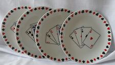 Susanne Riette for Boston Warehouse Trading Corp. Poker Tidbit Plates Four (4)