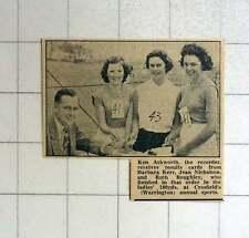 1957 Warrington Sports Crosfield Ken Ashworth, Barbara Kerr, Jean Nicholson, Rut