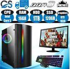 ✅ Fast Gaming Pc Computer Bundle Intel Quad Core I5 16gb 1tb 120gb 4gb Gtx1650 ✅