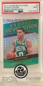 2017 NBA Panini Revolution Rookie Revolution #9 Jayson Tatum RC Graded PSA 9