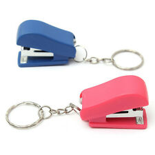 Portable Keychain Mini Cute Stapler For Home Office School Paper Bookbinding  LC