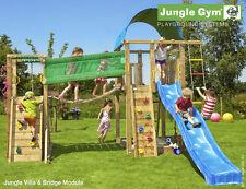 Parco gioco VILLA-BRIDGE legno per bambini torretta con modulo bridge Jungle Gym