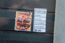 STAMPS GERMANY OCCUPATION POLAND SIGNED USED (F101110)