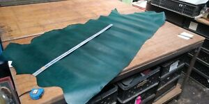Green Hide leather panel  1.1mm thickness LOT 1469