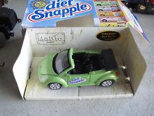 Rare Maisto Diect Green Tea Snapple Volkswagen Beetle Promo Car Mint in Box