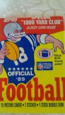1989 Topps Wax Pack Gum NFL Football Card Lot Over 50 Packs