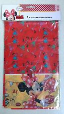 1 x Plastic Minnie Mouse Birthday Party Table Cloth Cover 120cm x 180cm BN