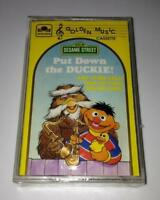 New SESAME STREET Put Down the DUCKIE Kids Cassette Tape VINTAGE SEALED RARE