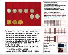 Look 12329-24-46 Plateau pour Monnaies Rouge 24 Cases 46 mm US$ Argenté Eagle $