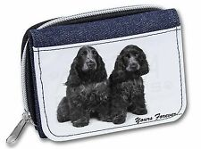 Blue Roan Cockers 'Yours Forever' Girls/Ladies Denim Purse Wallet Chr, AD-SC1yJW