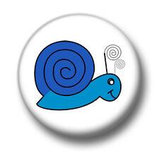Snail 1 Inch / 25mm Pin Button Badge Snails Escargot Cute Cartoon Nature Green