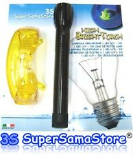 3S HIGH BRIGHT TORCH 1 U/V Led - 3W Leak Detector Lamp with UV SAFETY GOGGLES