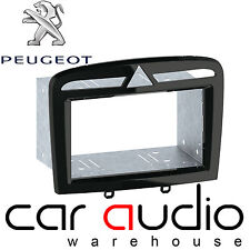 Peugeot 308 2007 On Car Stereo Double Din Fascia Facia Panel BLACK CT23PE09