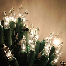 35 Clear Christmas mini lights - craft lights - glass bottles, blocks. wreaths