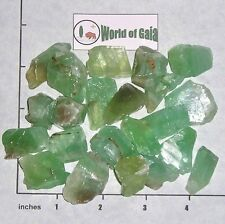 CALCITE CHUNKS, Green to Lt Aqua 3/4-1 1/4 inch rough 1/2 lb bulk stones