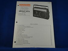 Superscope Marantz CR-1200 Cassette Radio Service Manual