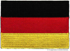 GERMAN NATIONAL FLAG PATCH GERMANY IRON-ON DEUTSCHLAND embroidered Aufnäher