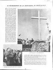 Croix-signal de Berzé-la-Ville Bourgogne Georges Lecomte WWII 1941 ILLUSTRATION