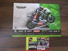 Tom sykes Superbike autografiada tarjeta 2018 firmado Kawasaki WSBK