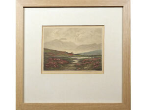 Claude Rowbotham - 'Moorland, Ross' Limited Edition Signed Aquatint Etching