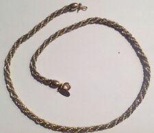collier rétro maille tourbillon plaqué or et argent poinçon 5210