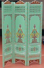 Soft Green Moroccan Room Wood Divider Screen Partition Panel Wall   Separation