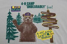 4H Camp Baton Rouge LSU AG Center XL tan shirt 2015 Grant Walker