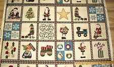 "Here Comes Santa Elf Northcott Christmas Fabric Block Panel 23""   #1764"