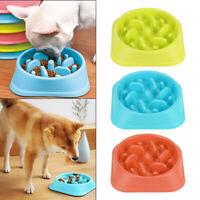 Pet Puppy Dog Cat Slow Feeder Anti Slip Choke No Gulp Bloat Water Bowl Feed Dish