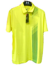 MENS UNDER ARMOUR PERFORMANCE GOLF SHIRT- WOW 57% OFF-LAST ONES IN STOCK-BARGAIN