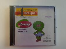 ENHMC-BAR2 Barney Col 2 Baby Bop BJ Elna Janome Memory Embroidery Design Card