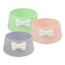 Bow Style Pet Dog Cat Bowl Feeding Drinking Plastic Dish Feeder
