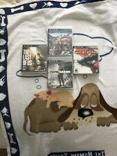 PS3 Games Lot Gams, The Last Of Us, Tomb Raider, Far Cry 4 God Of War 3,PS3