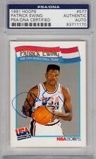 Patrick Ewing USA Dream Team Knicks 1991 Hoops #577 Signed AUTOGRAPH PSA DNA