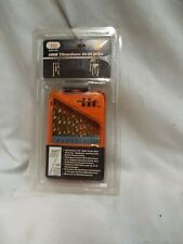 "13pc Titanium Coated Drill Bits Set 1/16""-1/4"" With Case 25120"